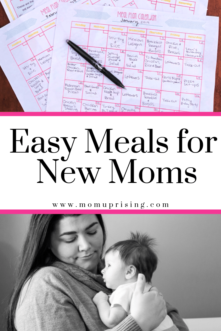 Easy Meals for New Moms Easy Meals for New Moms: Meal Planning Postpartum 101