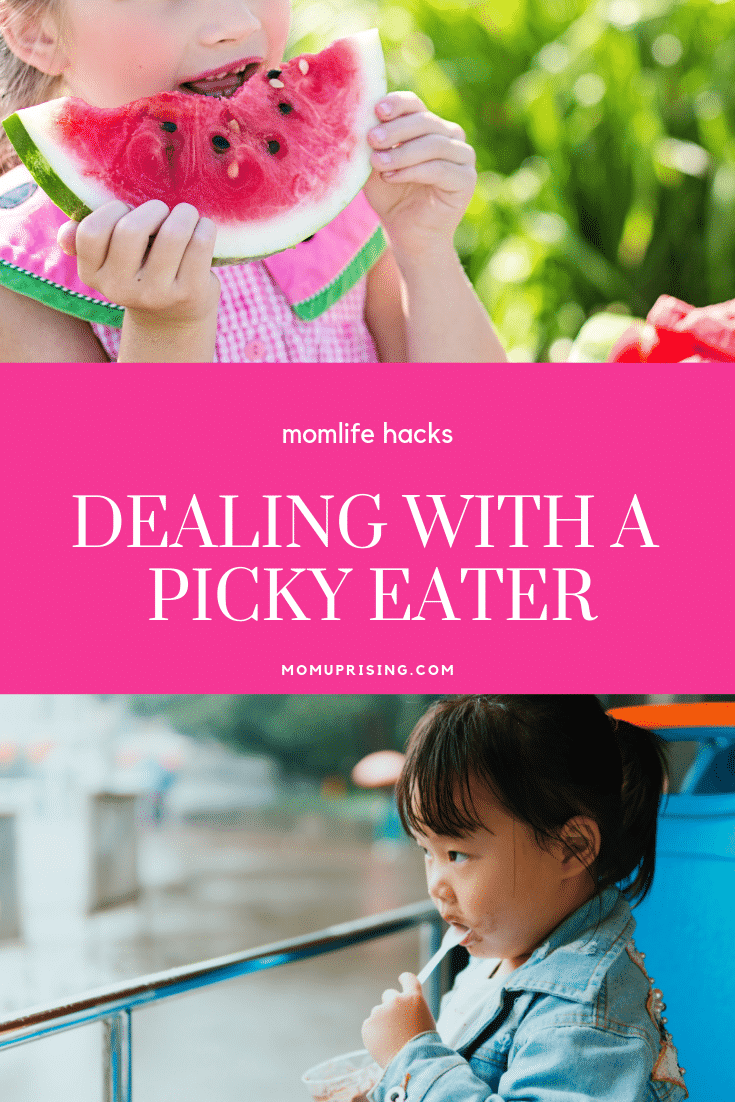 Dealing with a picky eater is hard!But these momlife tips will make it just a little bit easier. It's not just you mama. I know it feels like maybe you're failing when your kid eats about 3 items, none are healthy, and dealing with a picky eater is so hard! These parenting tips for dealing with a picky eater will ease the pain.