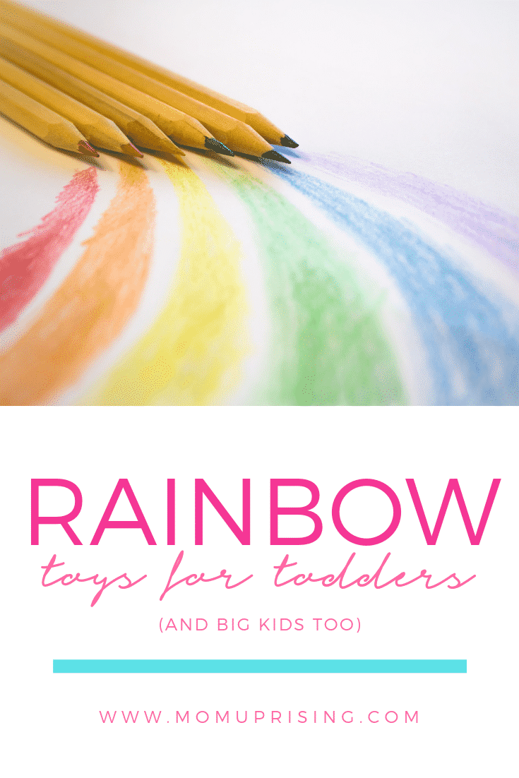 The best rainbow toys for toddlers (and big kids). They are beautiful additions to their room or shared spaces, and encourage learning! These rainbow toys for toddlers are essentials.