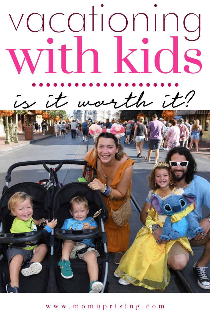 Vacationing with kids can be magical... or a mess. With all the stress is vacationing with kids even worth it, or should you forget it until they\'re older? I share all about our recent trip to Disney... the good, the bad, and the ulgly... and make the call on whether the whole trip was worth it.