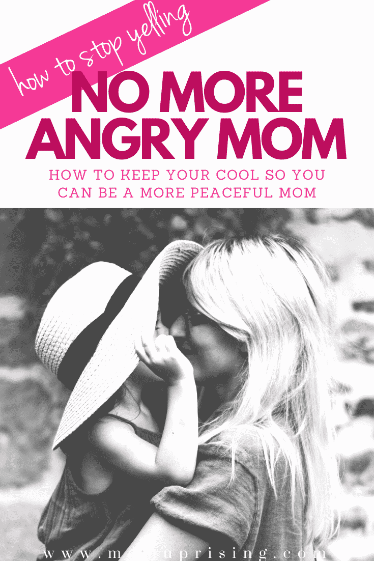 Tired of being the angry mom? Those little humans really know how to push your buttons! But these tips will help you stop yelling at your kids and be a more peaceful mom so can focus on positive parenting and gentle parenting instead. Ditch the angry mom and learn to keep your cool with your kids instead. #momlife #angrymom #peacefulmom #positiveparenting #gentleparenting #motherhood