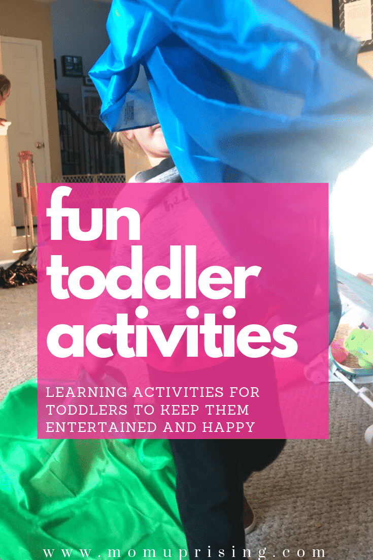 Need fun toddler activities and ideas for what to do with toddlers? These ideas and tips are priceless for keeping toddlers entertained. Not only are they awesome ways to keep kids entertained, but they are also learning activities for toddlers to help their development. #toddler #toddlermom #parenting #funactivities #funtoddleractivities #momlife